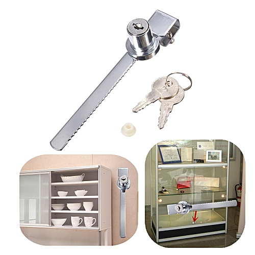 Keyed Alike Display Case Showcase Lock Sliding Glass Cabinet Door Lock+ 2  Keys