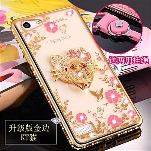 san francisco bbdba eb106 Luxury Rhinestone Phone Case Cover Holder Stand For Oppo A33 A33m A33f  Protective Ultra-thin Silicone Soft Case(Multicolor-6)