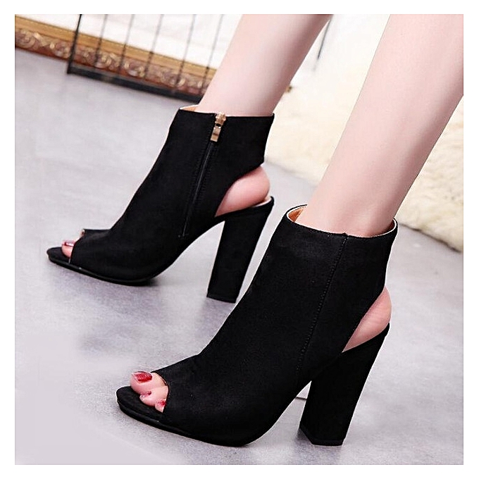 128230e135b Nazuworld women shoe-ladies ankle boots-pointed toe-black shoes ...