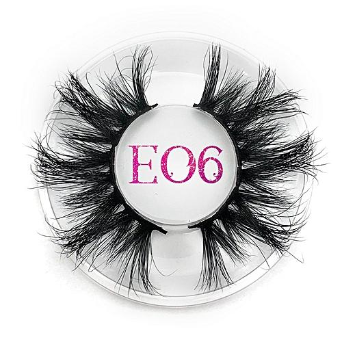 b2d3fa18b3b Generic 25mm Long 3D mink lashes extra length mink eyelashes Big dramatic  25mm Mink Lashes 100% Cruelty free Handmade fake lashes(E06 round case)