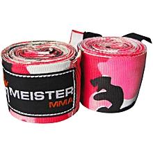 "Meister Adult 180"" Semi-Elastic Hand Wraps - pink camo"