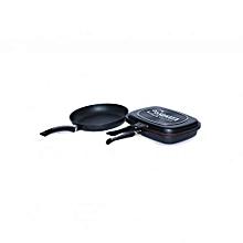 MagicGrill Double Pan (Non-Stick) Black & Non -Stick Frying Pan
