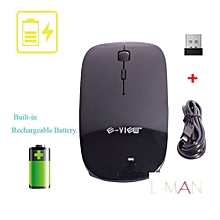 Rechargeable Wireless Mouse For PC/Laptop - Black