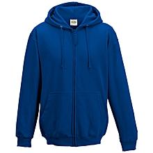 Royal blue plain hoodie