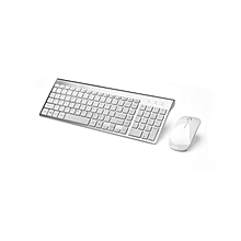 2.4G Wireless Keyboard and Mouse Combo - Silver