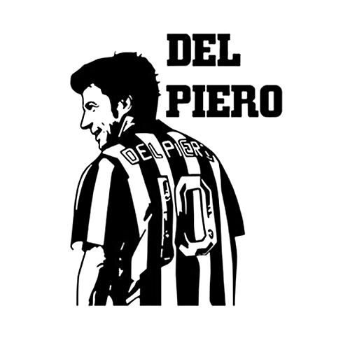 Del Piero Figure Wall Sticker Vinyl DIY Home Decor Football Star Decals Soccer Athlete for Kids