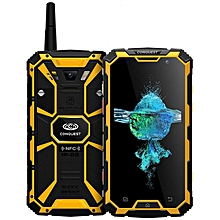 Conquest S8, 3GB+32GB, Walkie Talkie Function, 6000mAh Battery,IP68 Waterproof Dustproof Shockproof Anti-pressure Explosion-proof, Fingerprint Identification, 5.0 inch, Android 7.0 MTK6753 Octa Core up to 1.5GHz, Network: 4G, NFC, OTG, IR(Yellow)