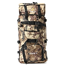 90L Mountaineering Hiking Camping Bag Tactical Travel Rucksack Backpack Outdoor Camouflage Khaki-
