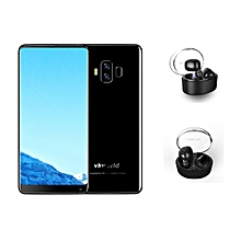 Vkworld S8 Black 5.99 Inch 5500mAh 4GB 64GB MTK6750T Smartphone With Dacom Wireless Headset