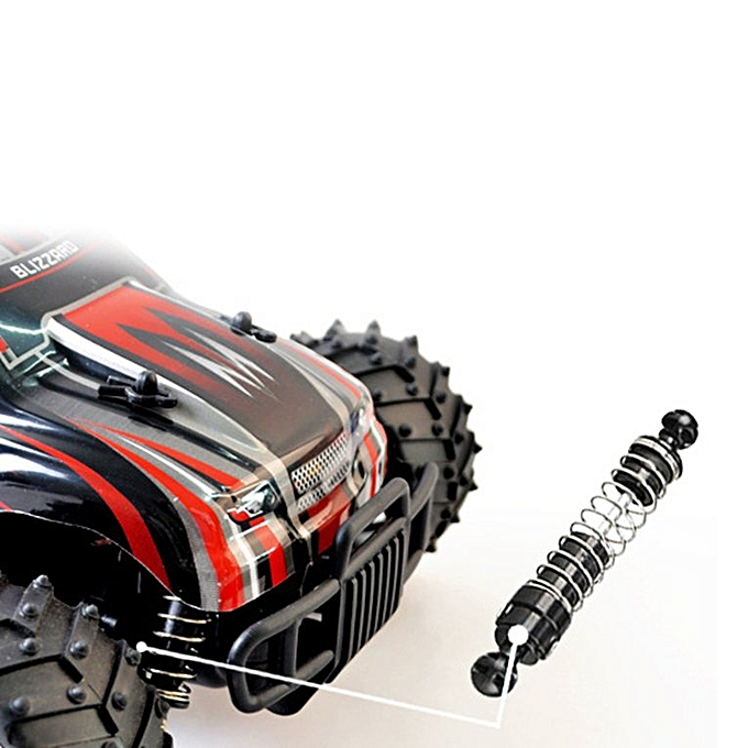 Electric Rock Crawler RC Car Suitable For 1:18 Scale Off-Road Vehicle Toys  red