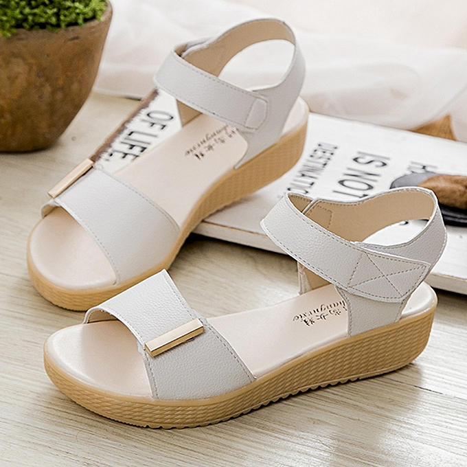 84aa2bfd8a2 Blicool Shop Women Sandals Women Summer Sweet Beaded Sandals Home Sandals  Beach Shoes -White