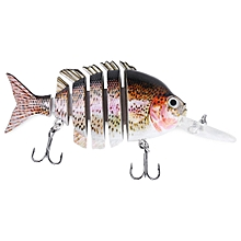 10CM Long Lip Weever Shape Crankbait Hook Lure Fishing Bait - Colormix