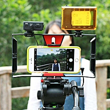 Hot sale Bellamall: Professional Camera Accessories Video Cage Stabilizer Film Steady Handle Grip Rig For Mobile Smart Phones