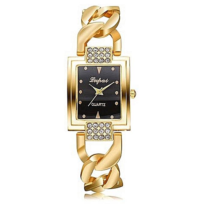 Luxury Women's  LVPAI Wrist Watches  Vente Chaude De Mode De Luxe Femmes Montres Femmes Bracelet Montre Watch B-Gold