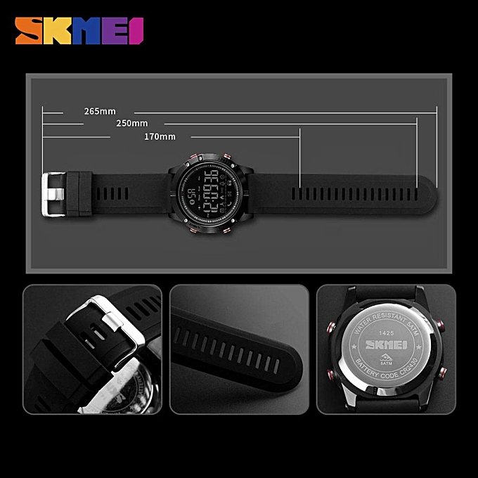 ... SKMEI Men Smart Watch Bluetooth Sports Waterproof Digital Watch  Calories Pedometer Multifunction Reminder Jam tangan lelaki 542f3083ec