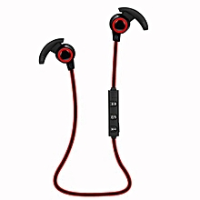 GuoaivoBluetooth 4.1 Wireless Headphone Stereo Sports Earbuds In-Ear Headset RD -Red