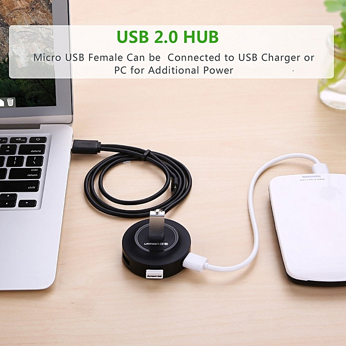 ... UGREEN 1 Meter USB 2.0 Hub 4 Ports with Micro usb OTG Function Compatible for PC ...
