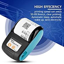 Wireless Portable Receipt Printer Bluetooth Thermal Bill Printer 58 mm 110-240 V (Blue, USS)