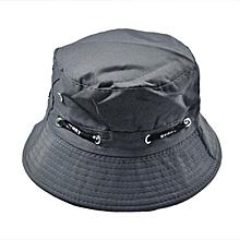 Men Women Unisex Cotton Bucket Hat Double Side Fishing Boonie Bush Cap Visor Sun
