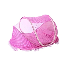 Large Portable Baby Cot Mosquito Net - Pink