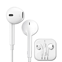 Earphone 3.5MM Headset With Remote Microphone For IPhone Earphone - WHITE