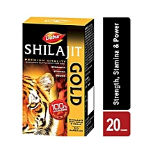 Shilajit Gold for Strength, Stamina and Power - 20 Capsules