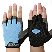 Unisex Motorcycle Half Finger Gloves Summer Cycling Biker Dirt Bike Racing Breathable Blue Orange Pi