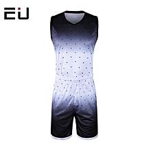 Customized Men's Basketball Training Sports Jersey Shirts Short Set-White(1611)