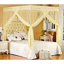 Mosquito Net - Cream in colour - With metallic stand - Size - 5 x 6