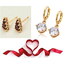 Gold  Coated Earring 2 Pairs