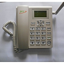 Gsm Phone For Office and Home with SIM Slot FM Radio-White
