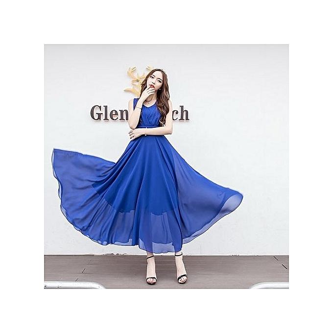 Buy Generic Plus Size Chiffon Maxi Dress Large Size Evenging Wear