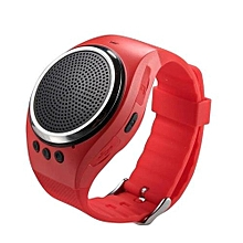 RS09 New Bluetooth Smart Watch Bracelet WristWatch With Music(Red)
