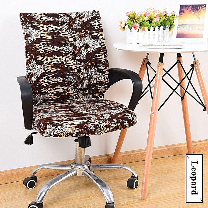 Office Chair Armrest Cover Set Computer Boss Seat Cloth Stool Swivel Sheath Elastic
