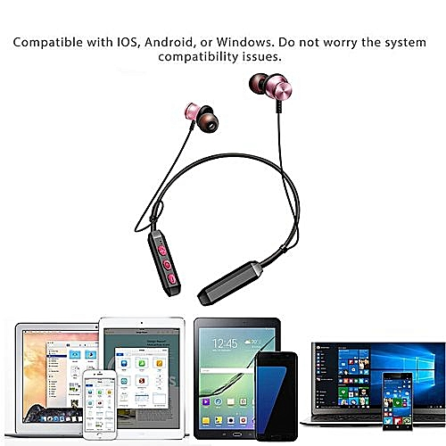 1f65c3a785e Generic Bluetooth Headphones Wireless Sports Earphones Neckband Headset  With Mic RG
