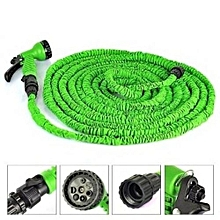 Expandable Garden Hose Pipe with 7 in 1 Spray Gun 100FT - Green
