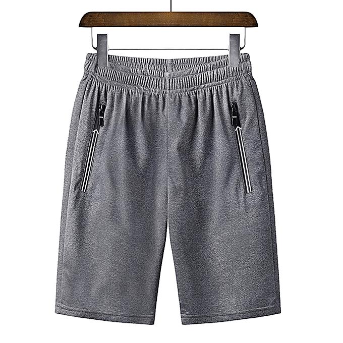 c83b23e224 Men's Summer Plus Size Thin Fast-drying Beach Trousers Casual Sports Short  Pants