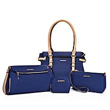 4 In 1 Oxford Cloth Women's Handbag Sing-shoulder Bag For Working Or Travlling (Blue)