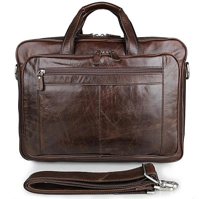 899e30147 Men's Clic Briefcase Leather Business Office 17 Inch Laptop Bag Lawyer  Handbag Portfolio Satchel Shoulder Bag
