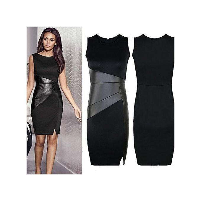Elegant Office Dress Summer Dresses Women O Neck Wear To Work Sheath Bodycon