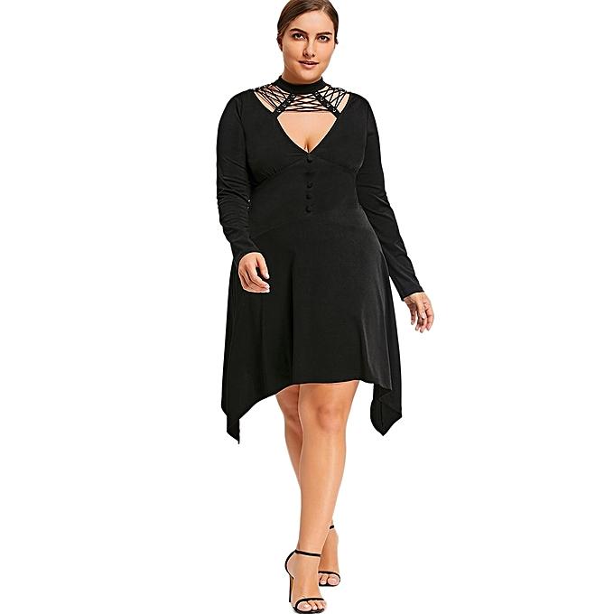 Plus Size Cut Out Empire Waist Dress