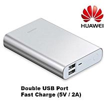 13,000 mAh - Slim Portable Power bank - Silver
