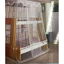 Comfy Mosquito Net For Double Decker Beds Free Size - White