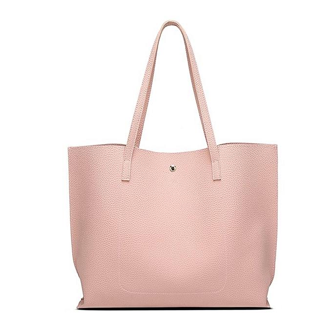 533240f7f03 ... Women Single-shoulder Bag Large Capacity Ladies Bag With Tassel  Decoration Pink
