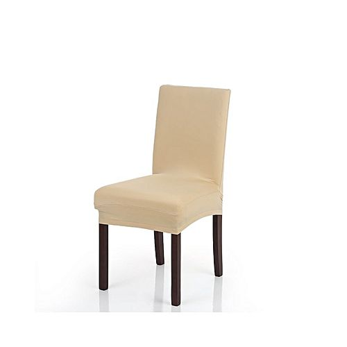 High Quality Stretch Removable Washable Short Dining Chair Cover Soft Milk Silk Spandex Slipcover