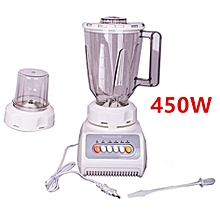 Blender 2in1,450 W Hausberg HB 7663, Stainless Steel Blades, 4 Speed & Pulse, Vas 1.5 L