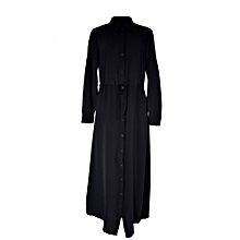 Black Maxi shirt dress