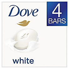 Dove Soap Beauty Bar White  - 4 Pieces