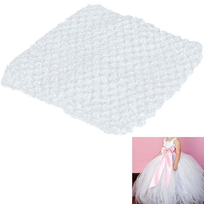 6cf387fadf3 6 Crochet Tube Top Elastic Waistband Headband F Baby Girls Tutu ...