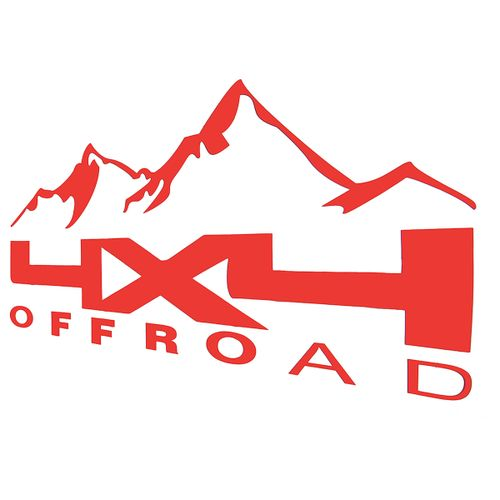 1 Paar Auto 4x4 Off Road Aufkleber Sticker Tuning Decal Universal 38x19cm